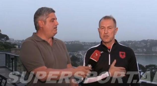 De Biazi sings the Albanian National Anthem