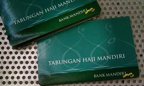 Buku tabungan haji di Bank Mandiri