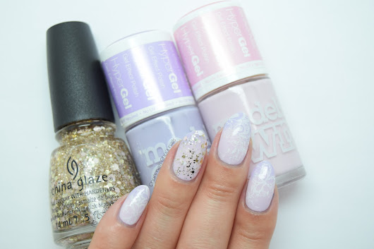 Choi's nails: Models Own Pink lilac gradient & new nail shape!