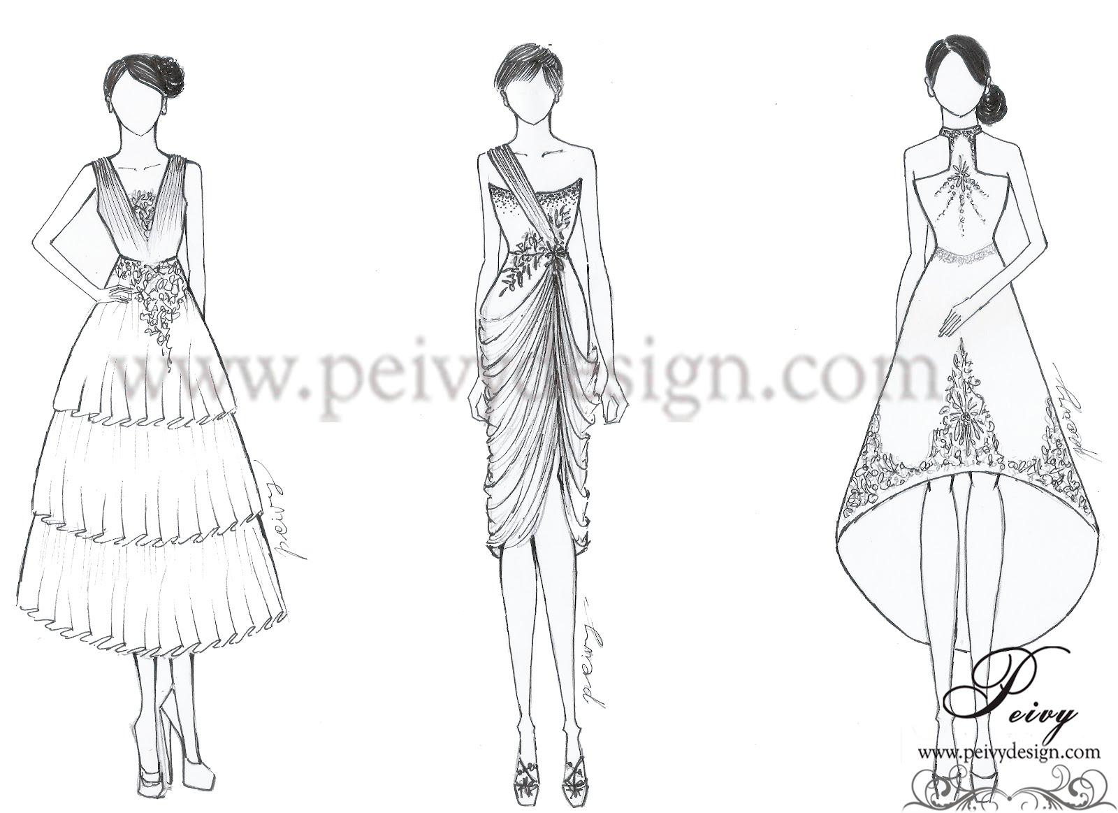 Kumpulan Soal Pelajaran 8 Gambar Desain Sketsa Baju Dress