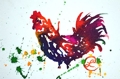 http://www.ebay.com/itm/Mr-Scrabble-Rooster-Ink-Painting-on-Paper-Contemporary-Artist-Europe-2000-Now-/291808069680?ssPageName=STRK:MESE:IT