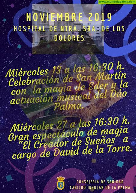 El Cabildo programa dos jornadas lúdicas en el Hospital de Dolores con motivo de la festividad de San Martín