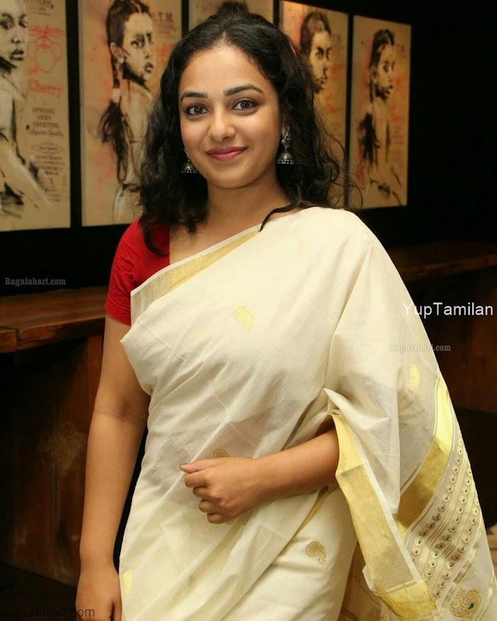 Nithya Menon Saree Photos|Hot Saree wear Pics- In Onam Saree