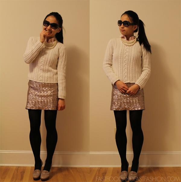 Wear It Five Ways : Gold Sequin Mini
