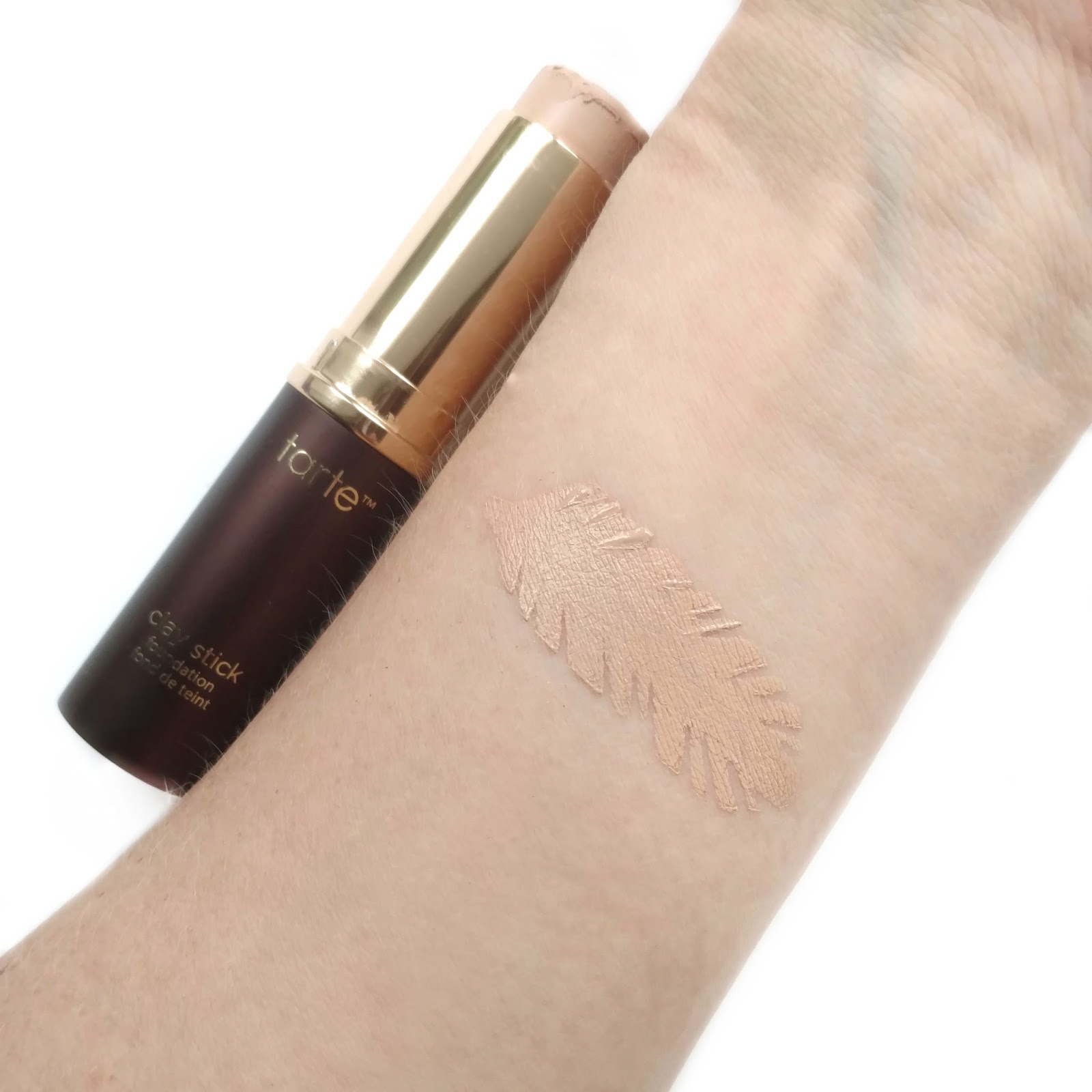 tarte clay foundation stick light beige