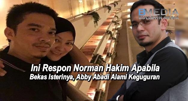 Ini Respon Norman Hakim Apabila Bekas Isterinya, Abby Abadi Alami Keguguran