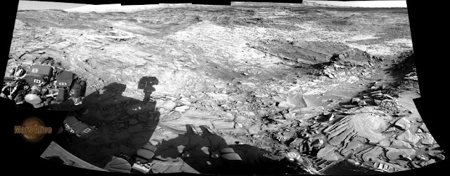 Sol 1151 Curiosity Left Navcam Pahrump Hills