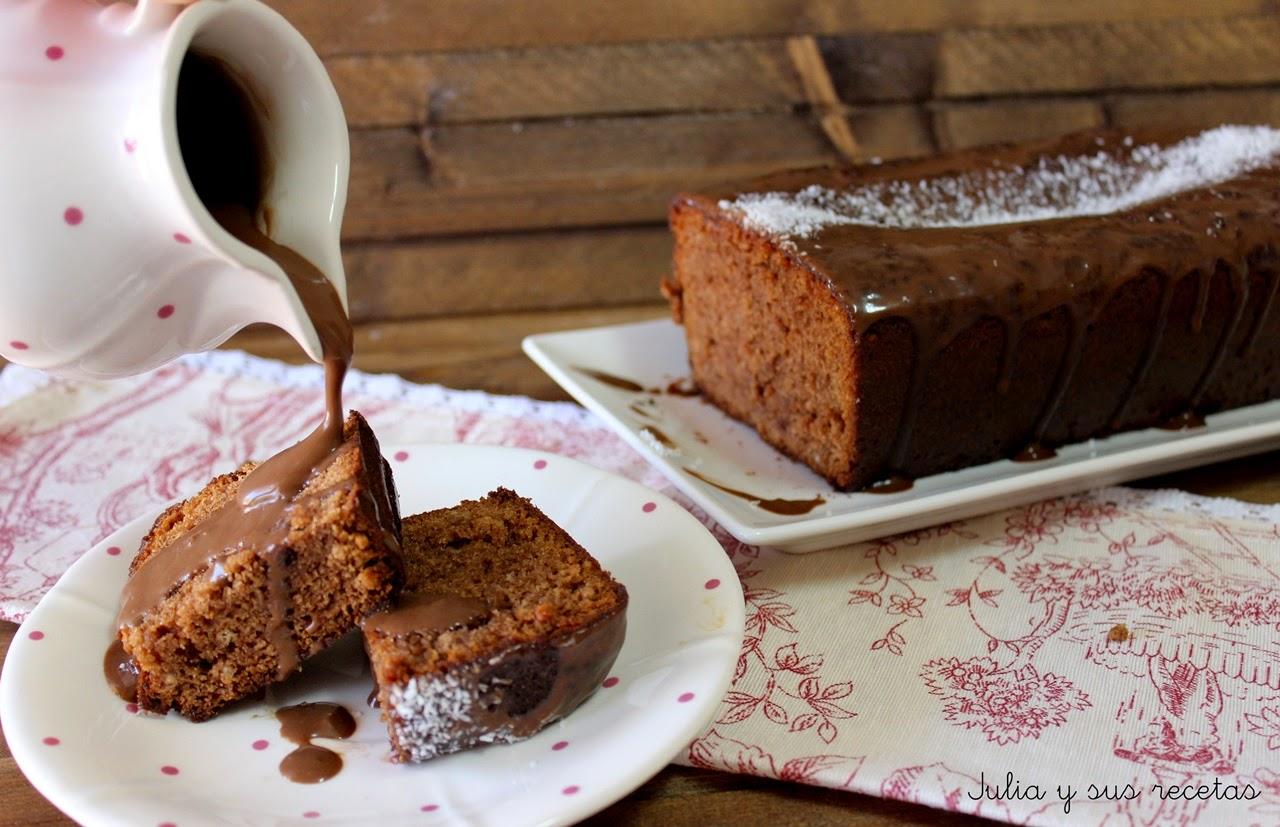 Bizcocho de turrón de chocolate. Julia y sus recetas