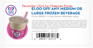free Baskin Robbins coupons december 2016