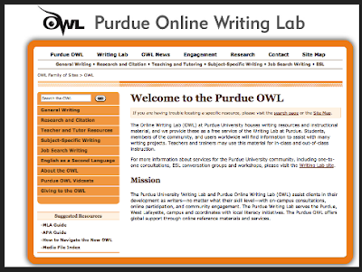 The Purdue Online Writing Lab- Helpful Writing Resources for Students