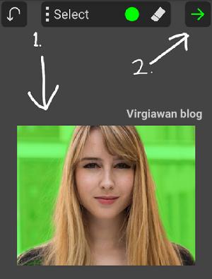 Cara mengubah warna background foto di android