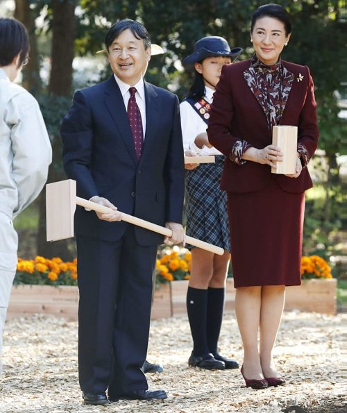 Crown Prince Naruhito and Crown Princess Masako attended the 42nd National Arboriculture Festival at Sea Forest Park