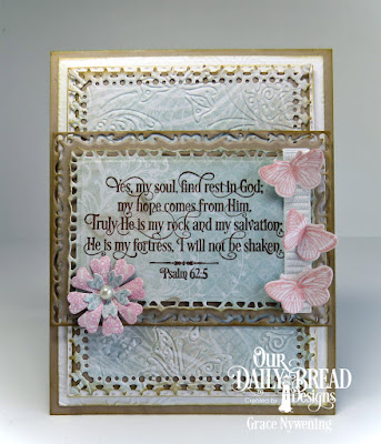 Our Daily Bread Designs Stamp Sets: Grace's Hope, Butterfly and Bugs, Our Daily Bread Designs Custom Dies: Lavish Layers, Boho Background, Double Stitched Rectangles, Birds and Nest, Bugs and Butterfly, Our Daily Bread Designs Paper Collection: Shabby Rose