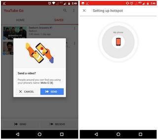 Cara Share / berbagi Video Offline Youtube Yang Tersimpan Ke Perangkat Android Lainnya