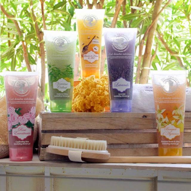 Gel Exfoliante Jeanne en Provence Provenza beauty baño miel belleza cedrat cuidado corporal