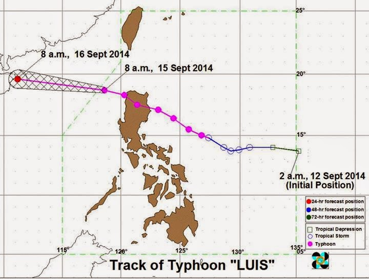 Bagyong Luis Exits Philippines (September 15)