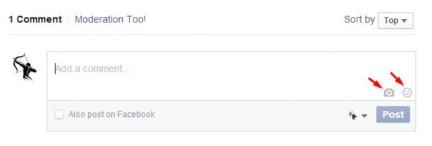 Bật tính năng comment bằng ảnh trên website khi sử dụng hệ thống comment của Facebook
