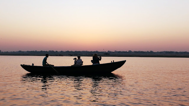 Early morning view of River Ganga -  Varanasi