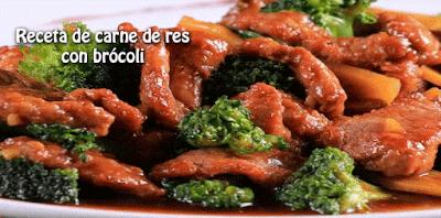 Receta de carne de res  con brócoli, una receta casera muy saludable, fácil de preparar y con un sabor delicioso .