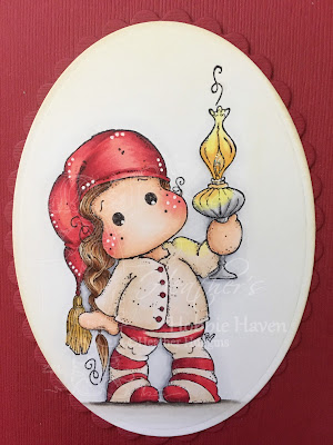 Heather's Hobbie Haven - Tilda with Christmas Lamp
