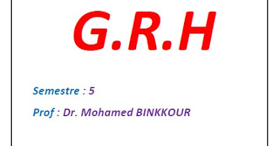 Cours GRH PDF - Dr BINKKOUR