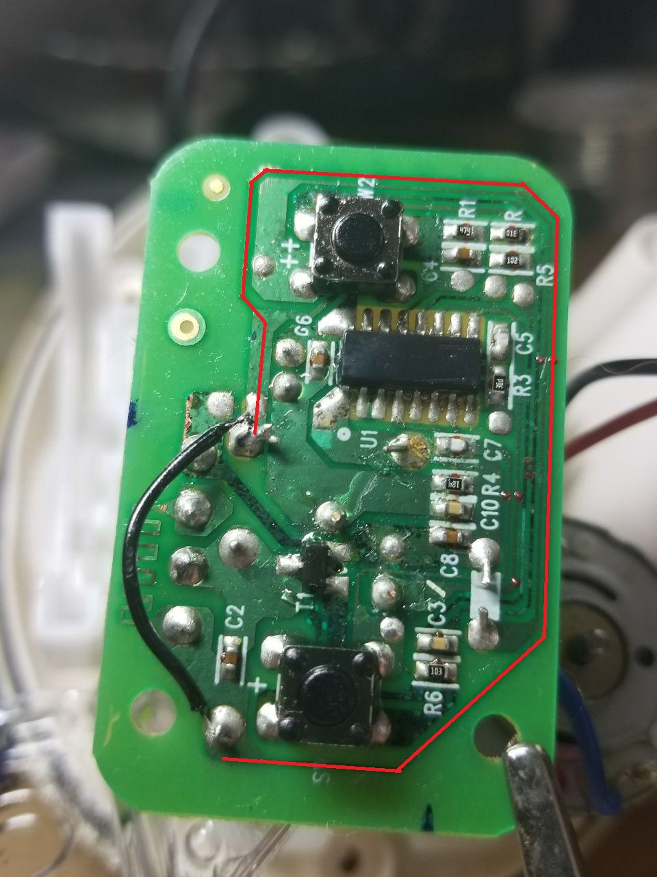 Small Electronic Repair Scrubbing Bubbles Automatic Shower Cleaner Circuit Board Coating I Followed The Checking For Voltage Between 1 And 4 Has A Conformal So Make Sure Youre Touching Metal When You Check