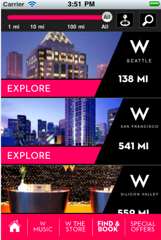 The W Hotel App
