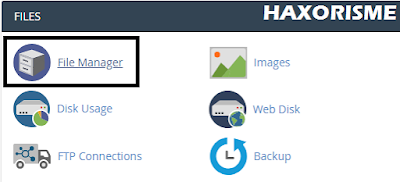 Membuka File Manager cPanel