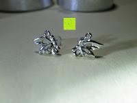 Trageposition: Fashmond Doppel Blumen Schmetterling Creolen Ohrschmuck aus 925 Sterling Silber Für Jeden Anlass