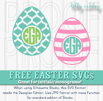 free monogram svgs for Easter