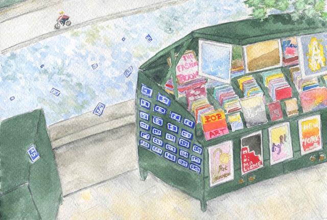 la Seine, les bouquinistes et la loterie du jour