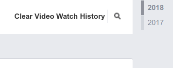 Click in Clear Find History of Watched Videos on Facebook