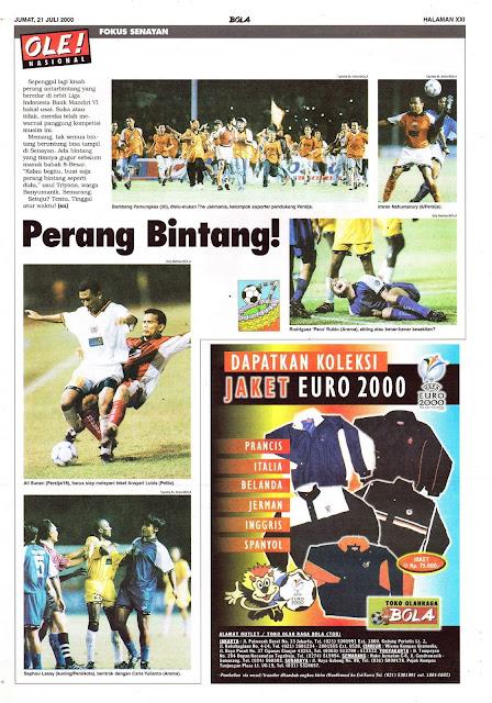 PERANG BINTANG LIGA INDONESIA 2000 DI SENAYAN
