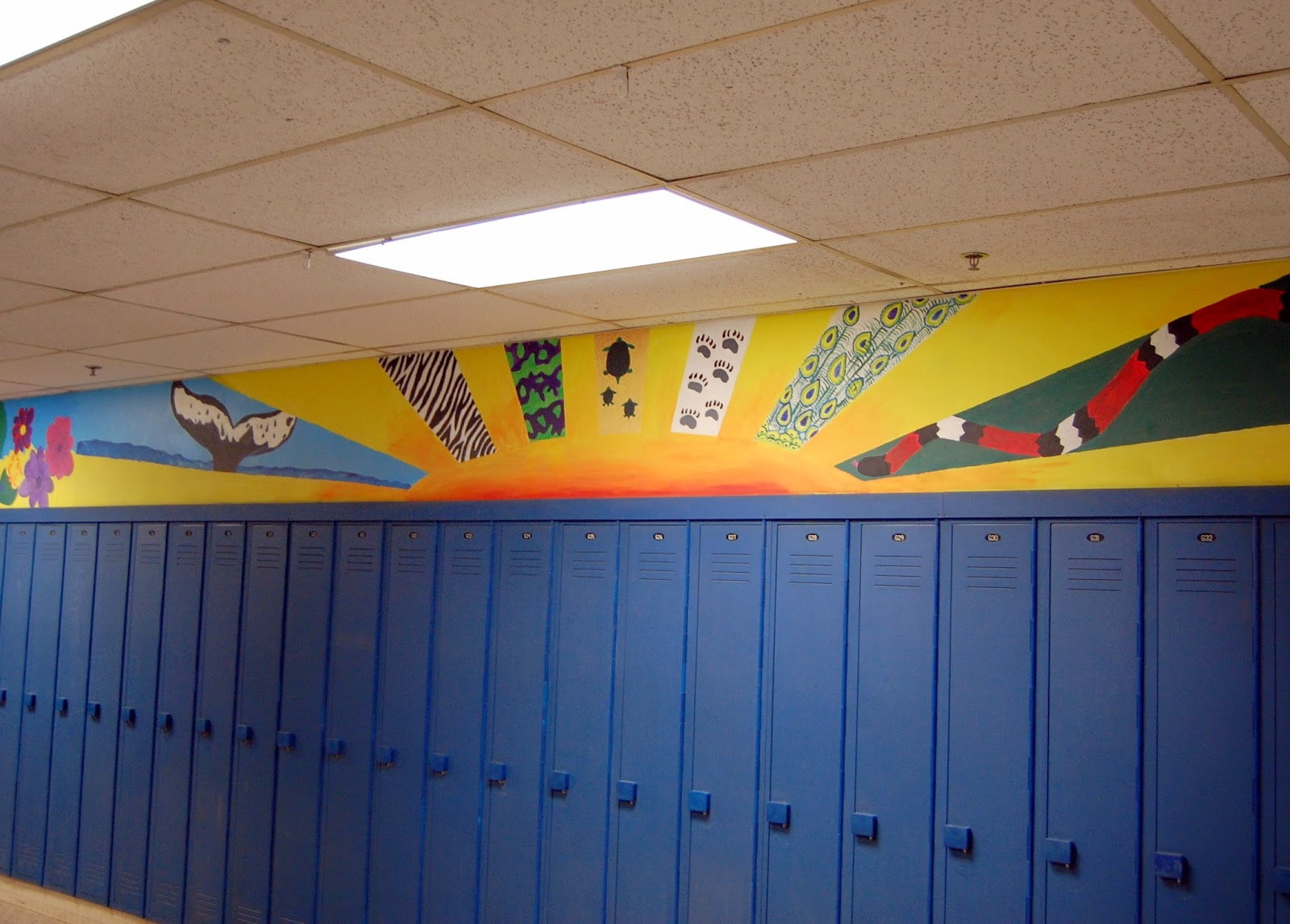 student murals above the lockers 1