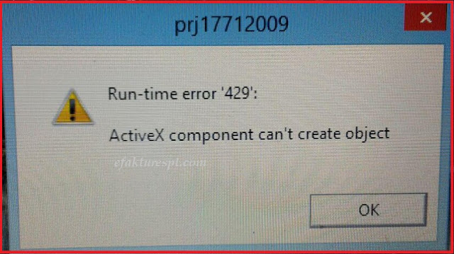 Run-time error 429 ActiveX component can't create object