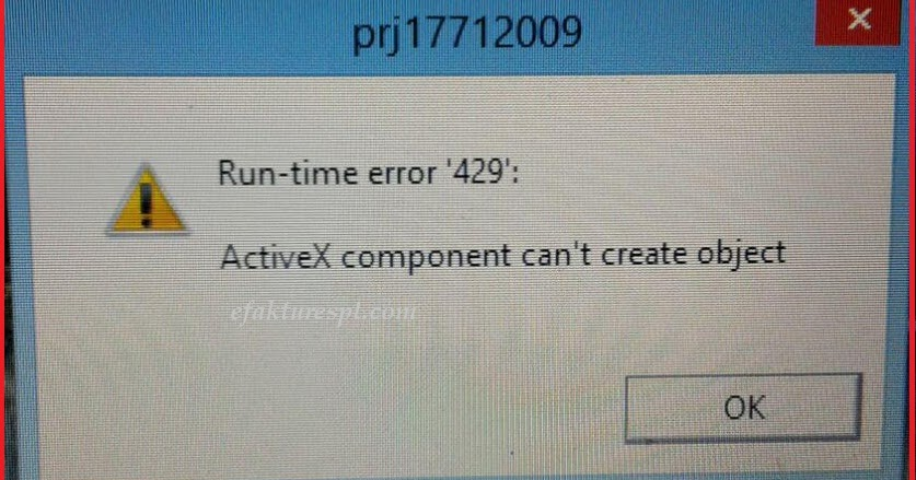 """Error #429 ActiveX Component can't create object"" is ..."