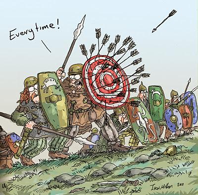Meme de humor sobre el muro de escudos