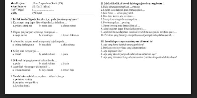 Contoh Soal Latihan UAS