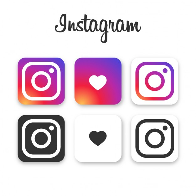 Instagram icon collection Free Vector