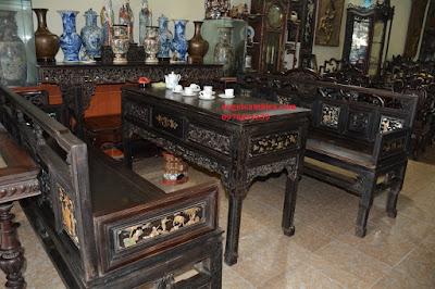 Bộ bàn ghế trường kỷ Huế gỗ trắc độc nhất Việt Nam