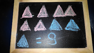 Matematica il numero 9 triangoli.