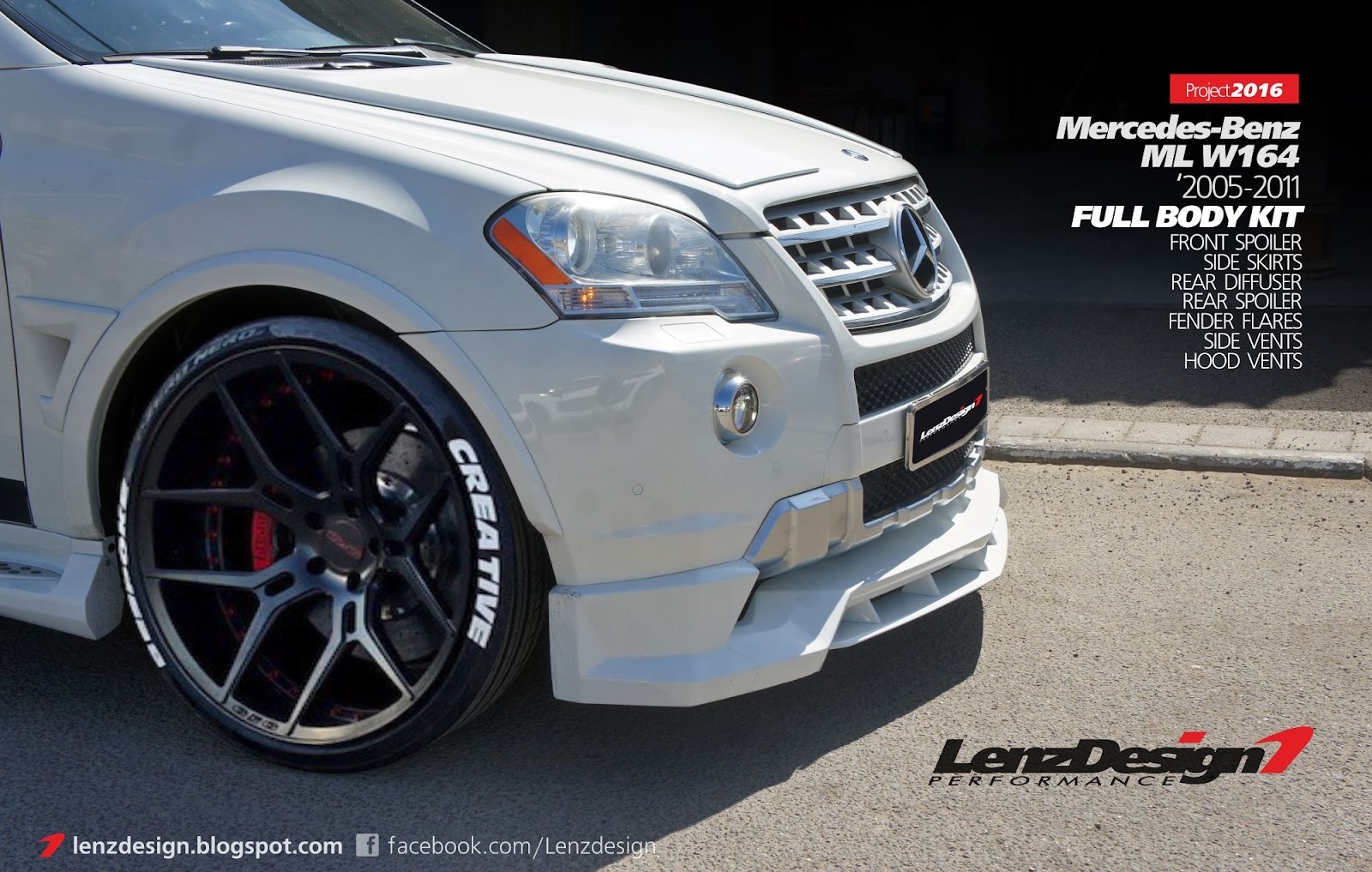 Mercedes benz ml w164 tuning wide body kit lenzdesign for Performance mercedes benz