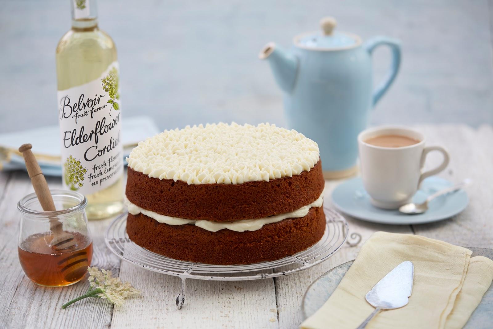 Honey Cake with Elderflower Icing: Afternoon Tea Recipe