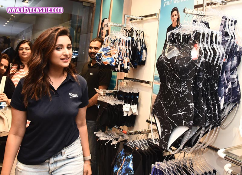 Parineeti Chopra during her visit at Speedo exclusive store in Gurgaon