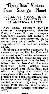 'Flying Disc' Visitors From Strange Planet - The Nation (Rangoon Burma) 1-2-1950