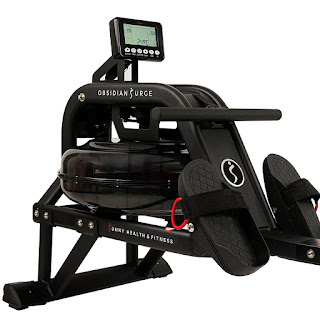 Sunny Health & Fitness SF-RW5713 Obsidian Surge 500 Water Rower Rowing Machine, image