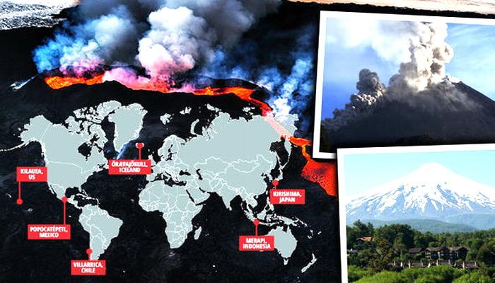 Científicos ADVIERTEN: Estos son los seis volcanes terroríficos que podrían explotar en 2018