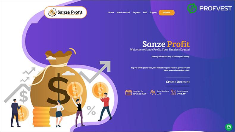 Sanze Profit обзор и отзывы HYIP-проекта