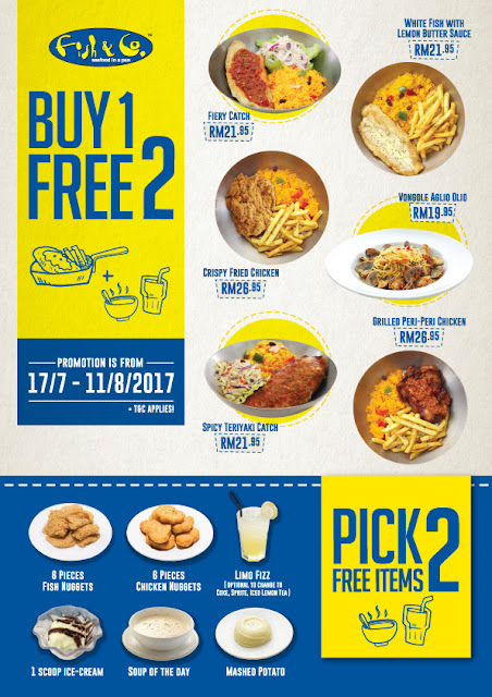 Fish & Co. Malaysia Buy Main Meal FREE 2 Add-on Side Items