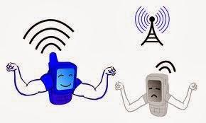 menguatkan sinyal android
